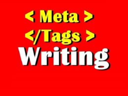 Write Keyword Targeted Meta Title and Description Meta Tags