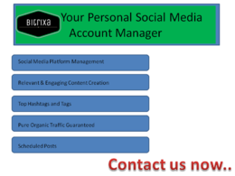 Be your Personal Social Media Manager & Content Creator
