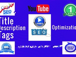 Do YouTube Video SEO And Video Promotion with top media sites