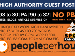 20 High Authority Guest Post DA[98-30] - [SITES UPDATED 2018]