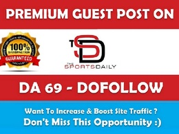Guest post on TheSportsDaily.com – TheSportsDaily – DA 69