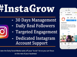 Do marketing, Manage and skyrocket your Instagram account growth