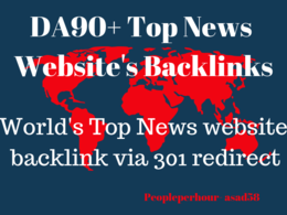 Provide 301 redirect backlink from Forbes,Huff etc news sites