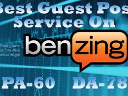 Publish a guest post on Benzinga (benzinga.com, DA 78, PA 80)