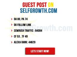 Guest Post on Self growth - selfgrowth.com - DoFollow - DA80