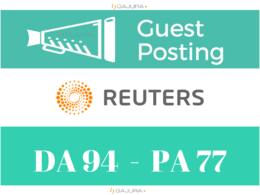 Guest Post on Reuters, Reuters.com DA 95 PA 100 - Dofollow links