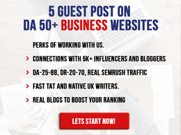 Provide 5 Guest Posts on DA40+ Business Websites