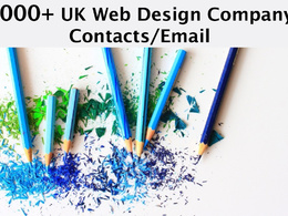 Send you 9000 plus UK WEB DESIGN Company/agencies email/contact
