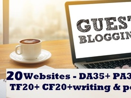 Write and publish guest post on 20  Websites DA 30+
