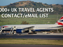 Give you 3000 plus UK Travel agents/agencies CONTACT/eMAIL list