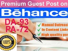Publish guest post on Behance.net high DA 93