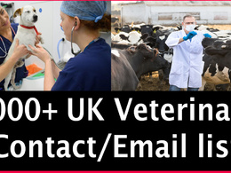 Send you 2000 UK veterinary contact/Email list