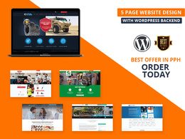 5 Page Custom Website with WordPress backend.