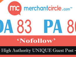 "Write and publish Guest Post on ""MERCHANTCIRCLE.COM"" DA-83"