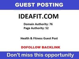Write & publish ideafit - Ideafit.com health fitness blog DA76