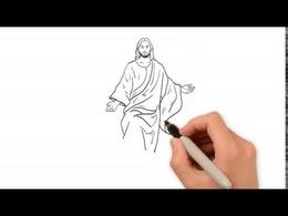 Create a black & white drawn video