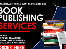 Provide professional book publishing service for your book