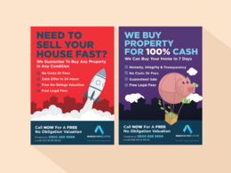 Design your flyer, leaflet or a poster with unlimited revisions