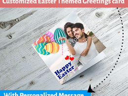 Design a customized Easter Themed Card for you within 4 hours