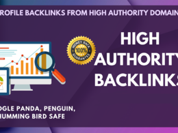 Give you 20 PR 8-9 authority profile+20. EDU/. GOV backlinks