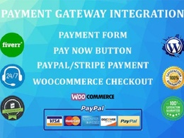 Integrate Payment Gateway, Paypal Payment, Woocommerce Checkout