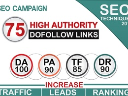Do 75 High Authority Dofollow Backlinks, Da100