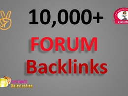 10,000 GSA SER Forum Backlinks for Google SEO to your website