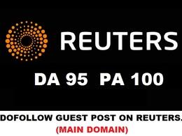 Dofollow Guest Post on REUTERS DA 95 and Yahoo News DA 100 -