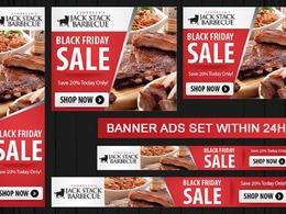 Design Amazing Banner Ads Set for Google Adwords (5 Sizes)