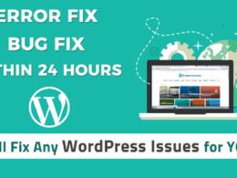 Fix wordpress errors, wordpress issues, bugs