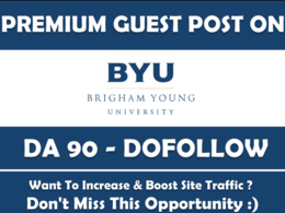 Publish a Guest Post on Brigham Young University Byu. edu - DA90