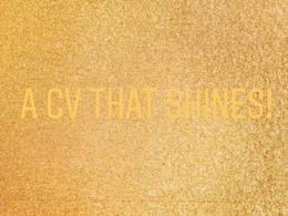 Create your CV tailormade to your field
