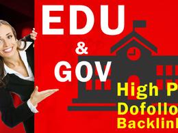 Provide USA BASED EDU GOV Authority Backlinks