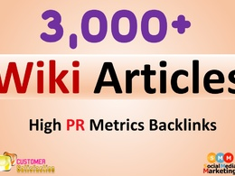 Create 3000+ Wiki High PR Metrics Backlinks & articles