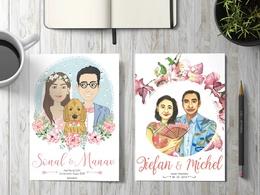 Make Wedding Invitation With Bride And Groom Illustration