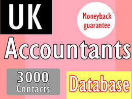 Give you UK accountant database with 3000 contacts