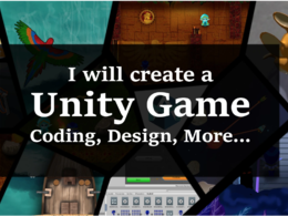 ✔ Create a Unity game