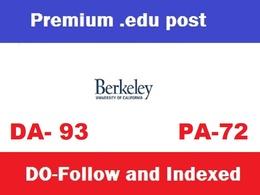 Publish Do follow guest post on Berkeley, Berkeley. edu - DA 93