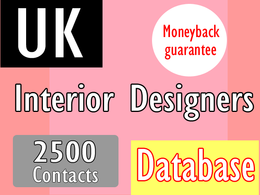 Give you 2000 uk interior designers genuine email
