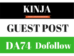 Write and publish a guest post on KINJA - DA 78