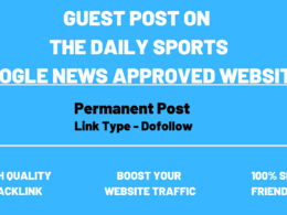 Write and Publish guest post article on thesportsdaily.com DA63