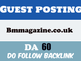Guest post in bmmagazine - bmmagazine. co. uk DA60