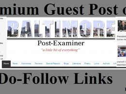 Top News Guest Post on baltimorepostexaminer com DA 60 Do Follow