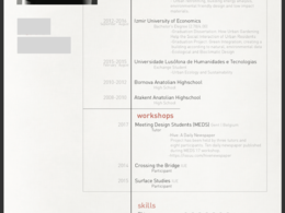 Design your CV to boost your skills