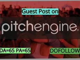 Do a do-follow guest post on Pitchengine.com da 65