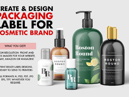 Design a cosmetic packaging label