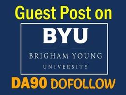 Dofollow Guest Post on DA90 Brigham Young University, Byu.edu