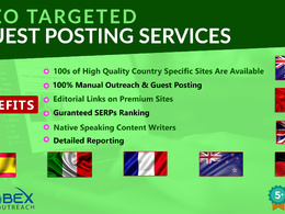 Provide you GEO Targeted Guest Posts Services on High DA Blogs.