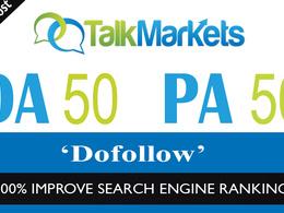 Publish a Guest Post Do Follow TalkMarkets.com DA 50 PA 57