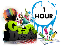 Be your graphics designer for 1 hour